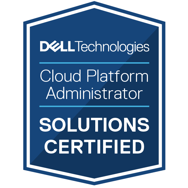 Dell Technologies Cloud Platform Administrator 2020