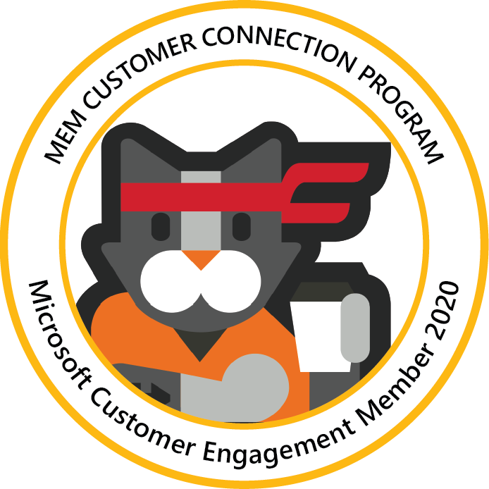 Microsoft Endpoint Manager Customer Connection Program: Customer Engagement Member 2020