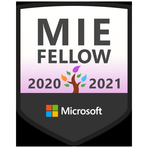Microsoft Innovative Educator Fellow 2020-2021