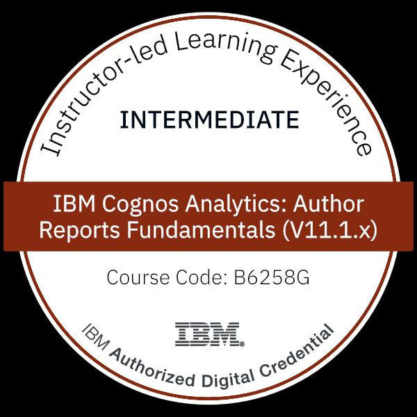 IBM Cognos Analytics: Author Reports Fundamentals (V11.1.x