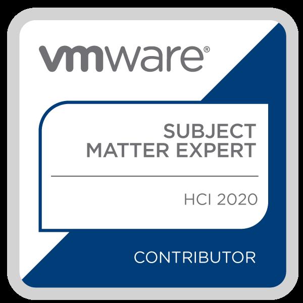 Certification Subject Matter Expert - HCI 2020