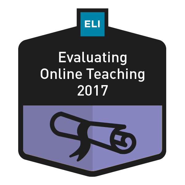 Evaluating Online Teaching 2017