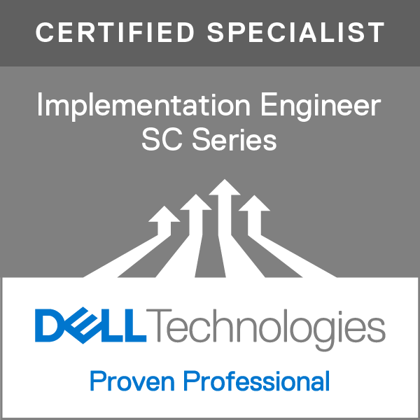 Specialist – Implementation Engineer, SC Series Version 1.0