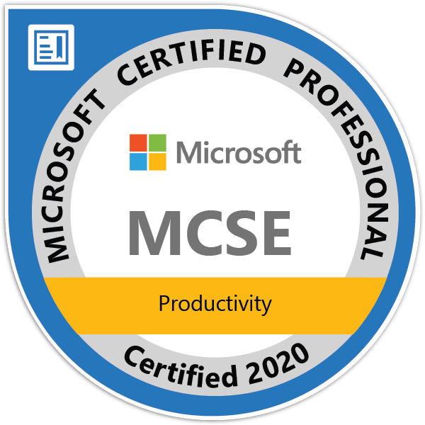 MCSE: Productivity — Certified 2020
