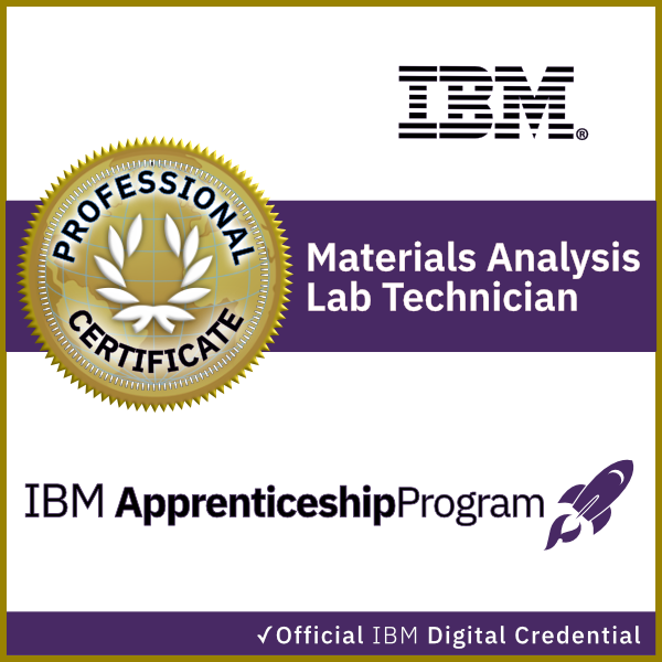 IBM Materials Analysis Lab Technician Apprenticeship Certificate