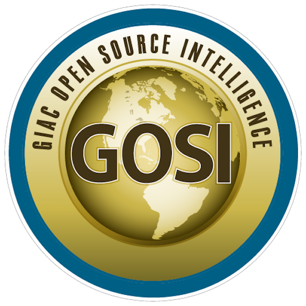 GIAC Open Source Intelligence (GOSI)
