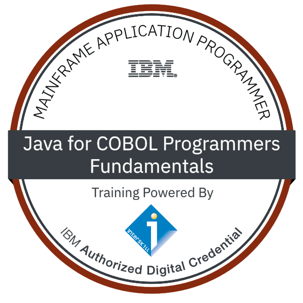 Interskill – IBM Mainframe Application Programmer – Java for COBOL Programmers - Fundamentals