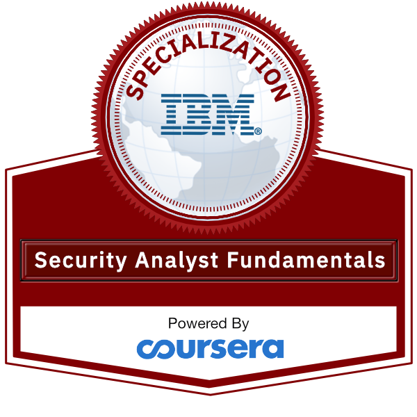Security Analyst Fundamentals Specialization