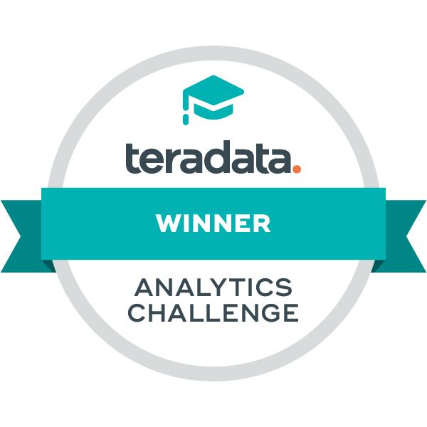 Teradata Analytics Challenge Winner