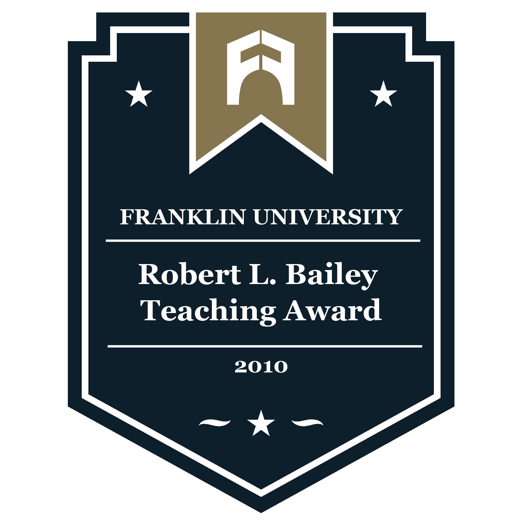 2010 Robert L. Bailey Teaching Award