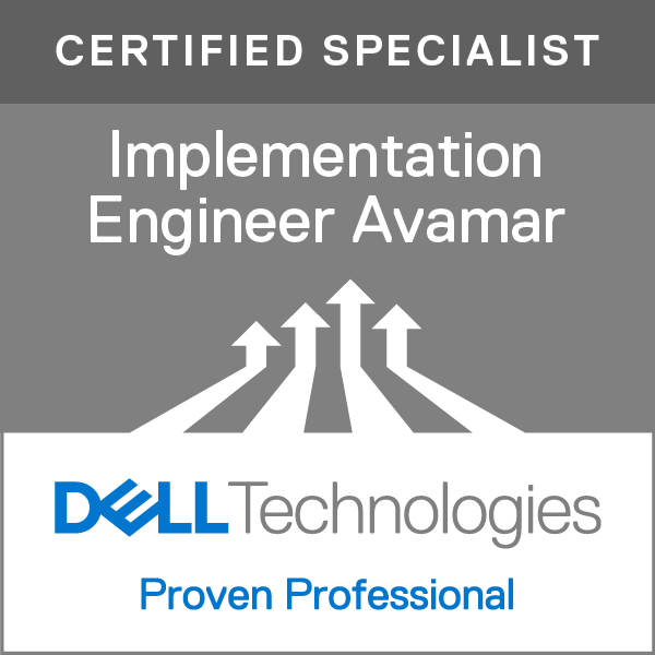 Specialist - Implementation Engineer, Avamar Version 8.0