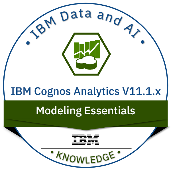 IBM Cognos Analytics V11.1.x Modeling Essentials