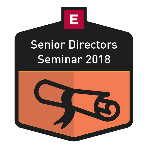 Senior Directors Seminar 2018