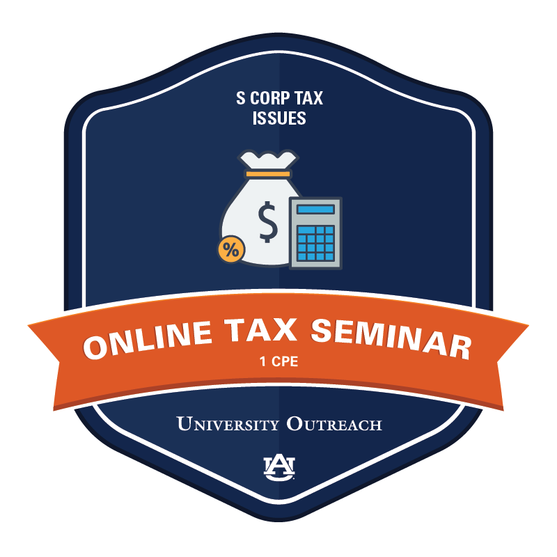 Online Tax Seminar: S Corp Tax Issues - 1 CPE