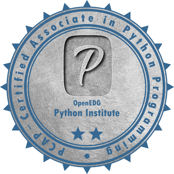[PCAP-31-02] PCAP – Certified Associate in Python Programming