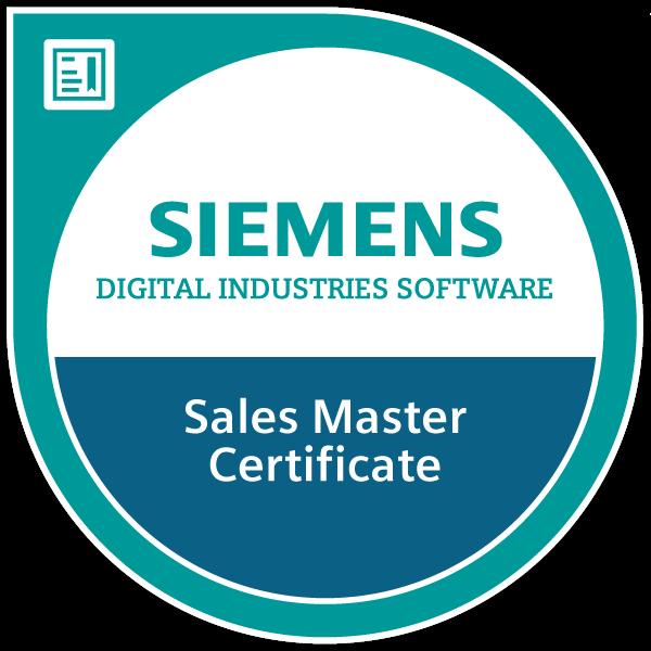 Siemens Digital Industries Software Sales Master Certificate 2020