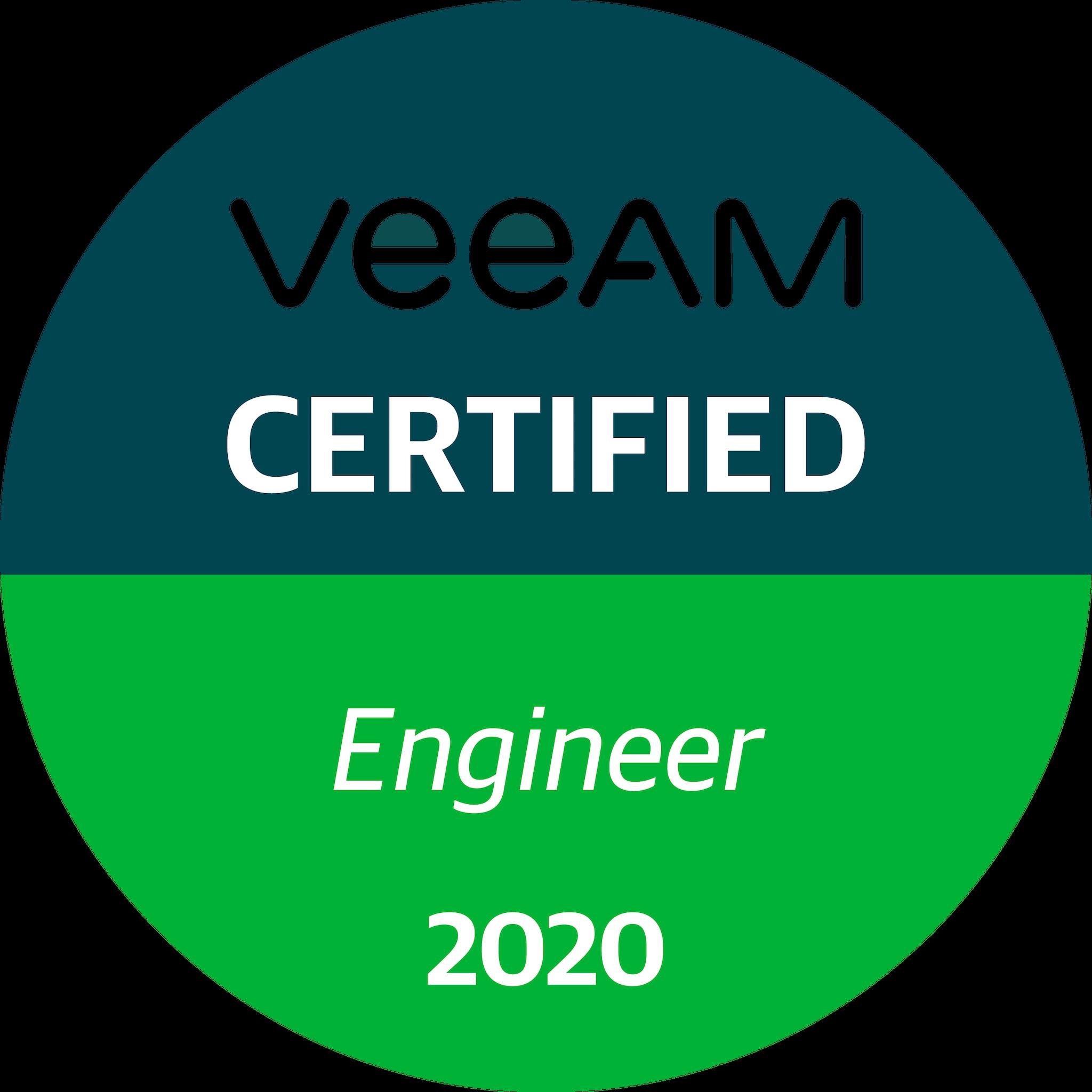 Veeam Certified Engineer 2020 (VMCE 2020)