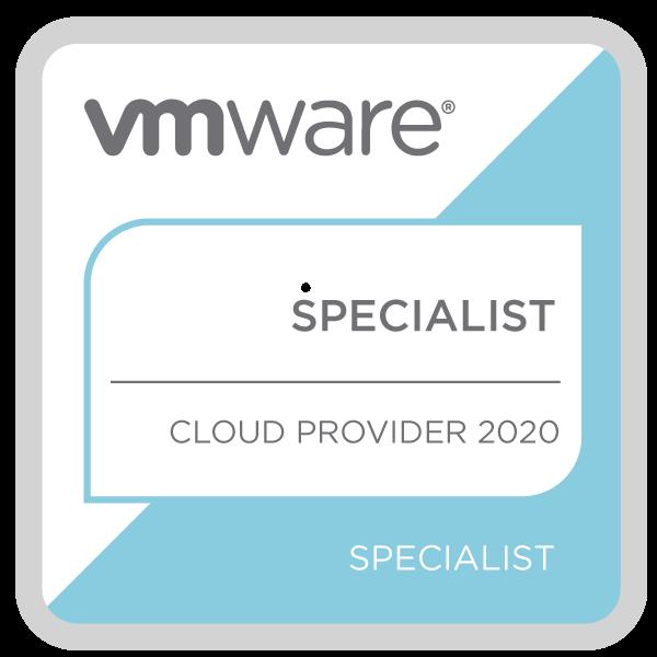 VMware Specialist – Cloud Provider 2020