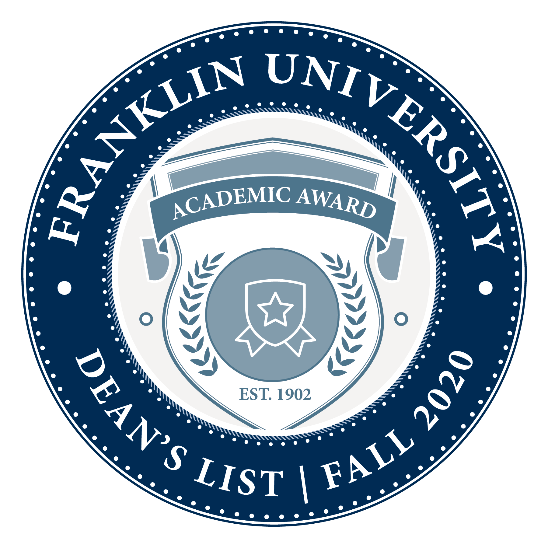 Franklin Dean's List - Fall 2020