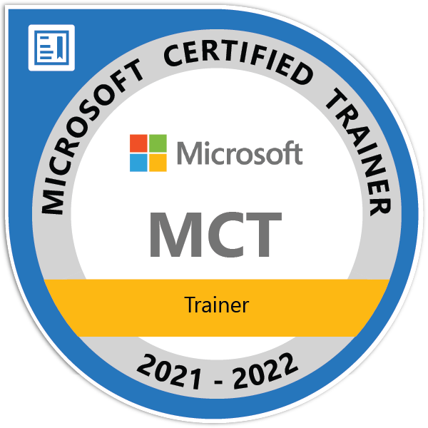 Microsoft Certified Trainer 2021-2022