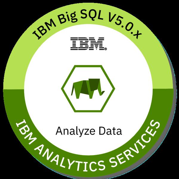 IBM Big SQL V5.0.x Analyze Data