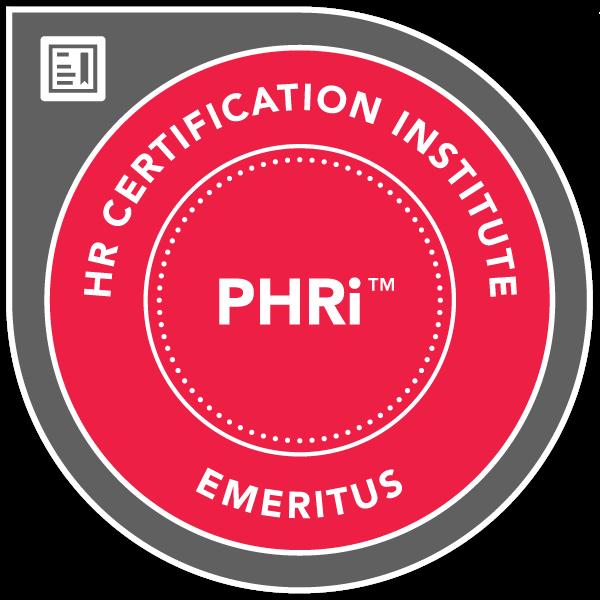Professional in Human Resources – International™ (PHRi™) - Emeritus