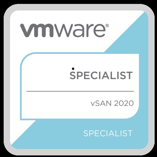 VMware Specialist - vSAN 2020