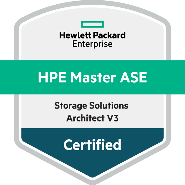 HPE Master ASE - Storage Solutions Architect V3