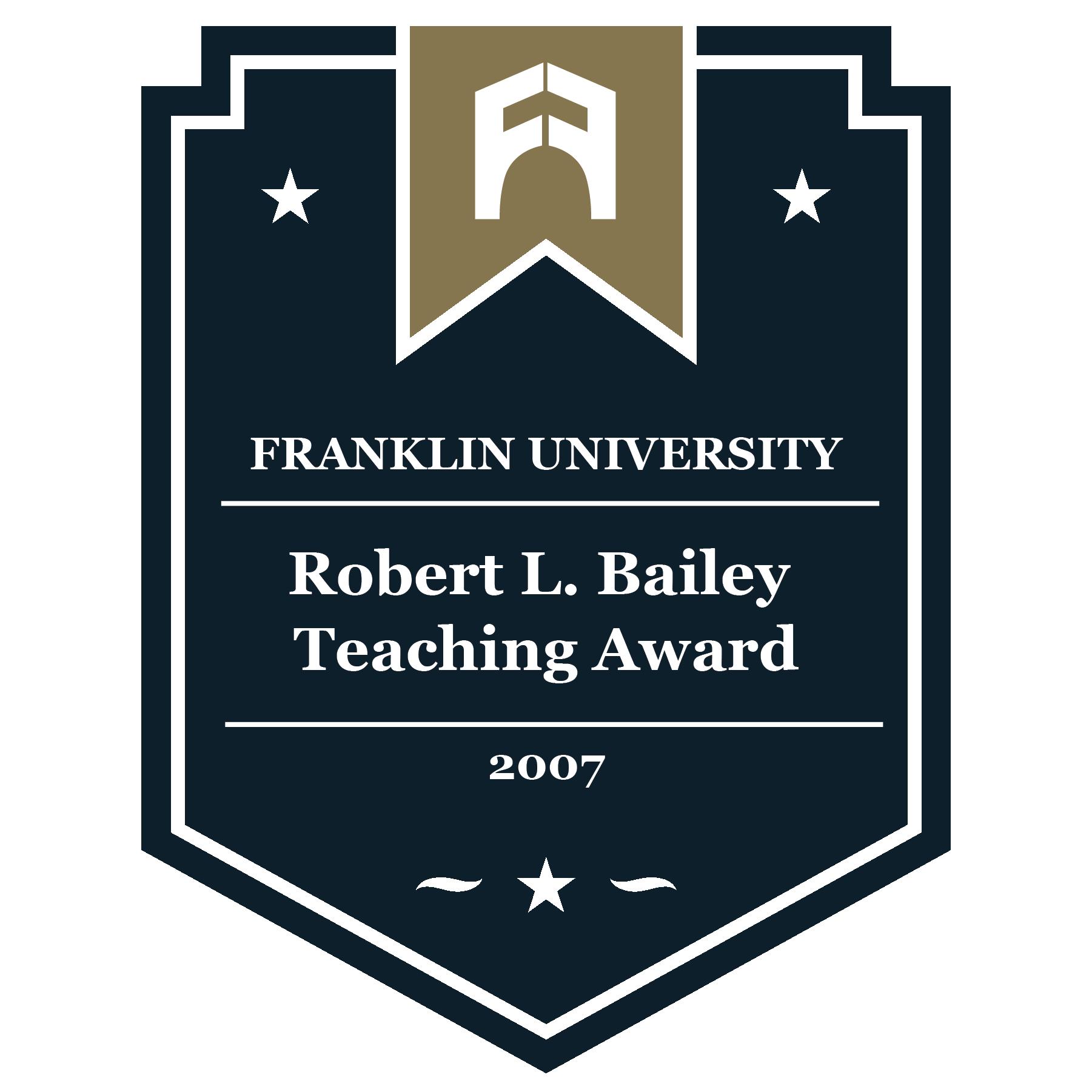 2007 Robert L. Bailey Teaching Award