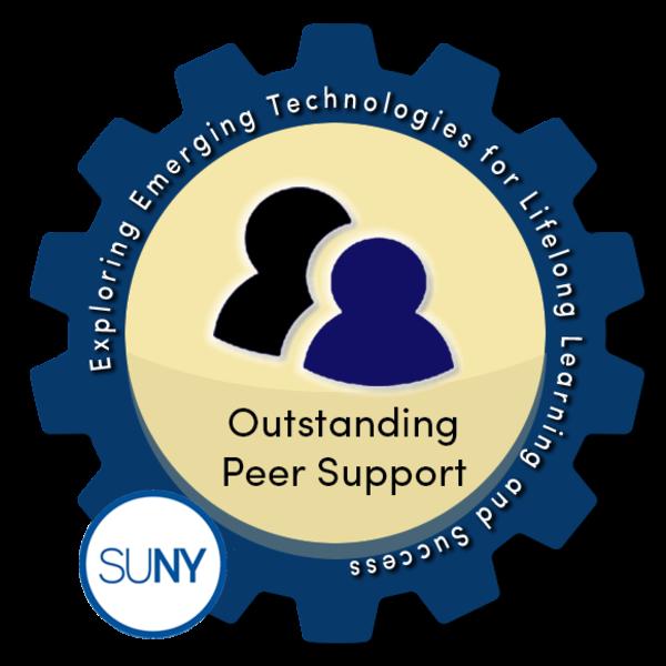 Outstanding Peer Support - SUNY #EmTechMOOC