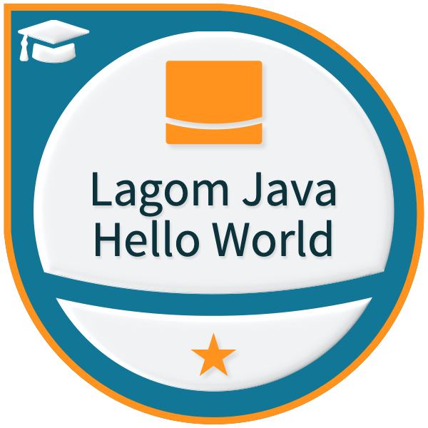 Lightbend Lagom for Java Hello World - Level 1