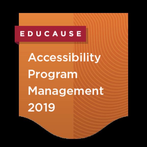 Accessibility Program Management 2019