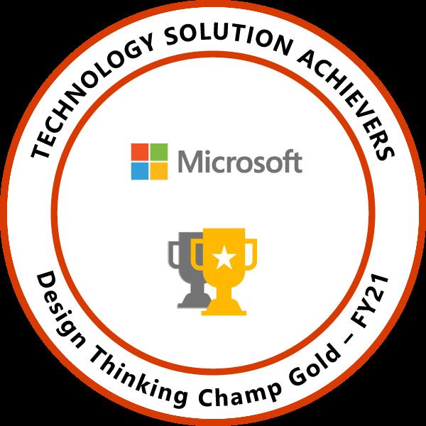 Design Thinking Champ Gold