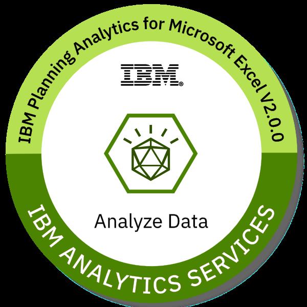 Badges: IBM Planning Analytics For Microsoft Excel V2.0.0