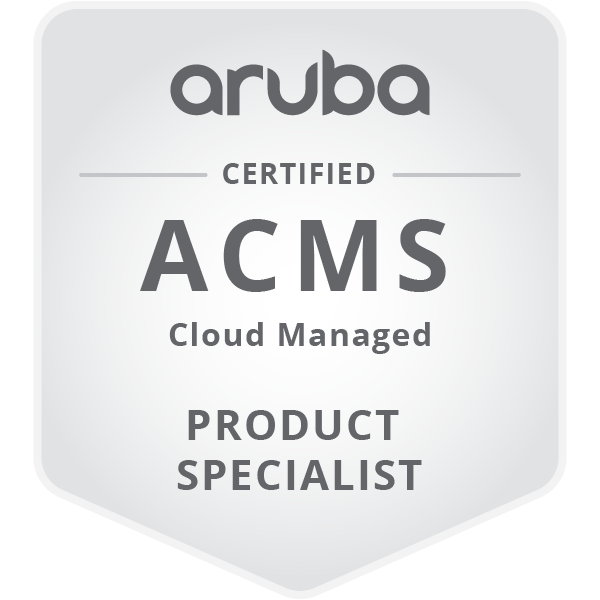 HPE Product Certified - Aruba Cloud Managed Specialist