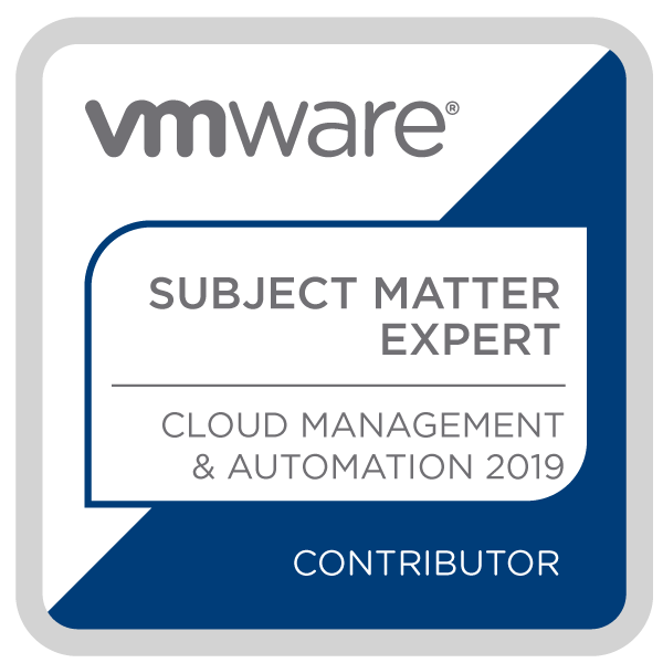 Certification Subject Matter Expert - Cloud Management and Automation 2019