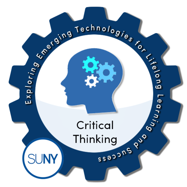 Critical Thinking - SUNY #EmTechMOOC