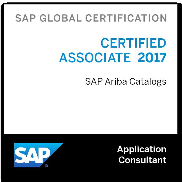 SAP Certified Associate - SAP Ariba Catalogs 2017
