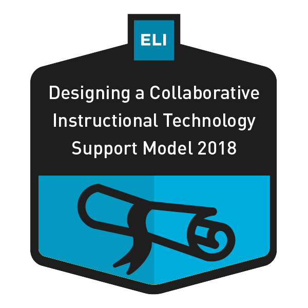 Designing a Collaborative Instructional Technology Support Model 2018