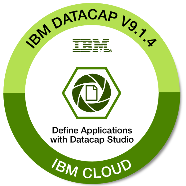 IBM Datacap V9.1.4 - Define Applications with Datacap Studio