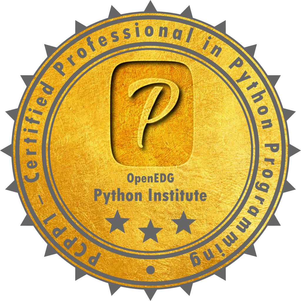 [PCPP-32-101] PCPP1 – Certified Professional in Python Programming 1