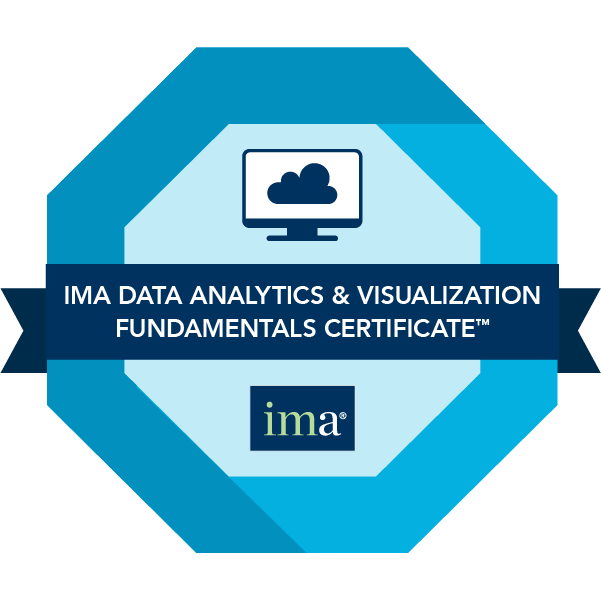 IMA Data Analytics & Visualization Fundamentals Certificate