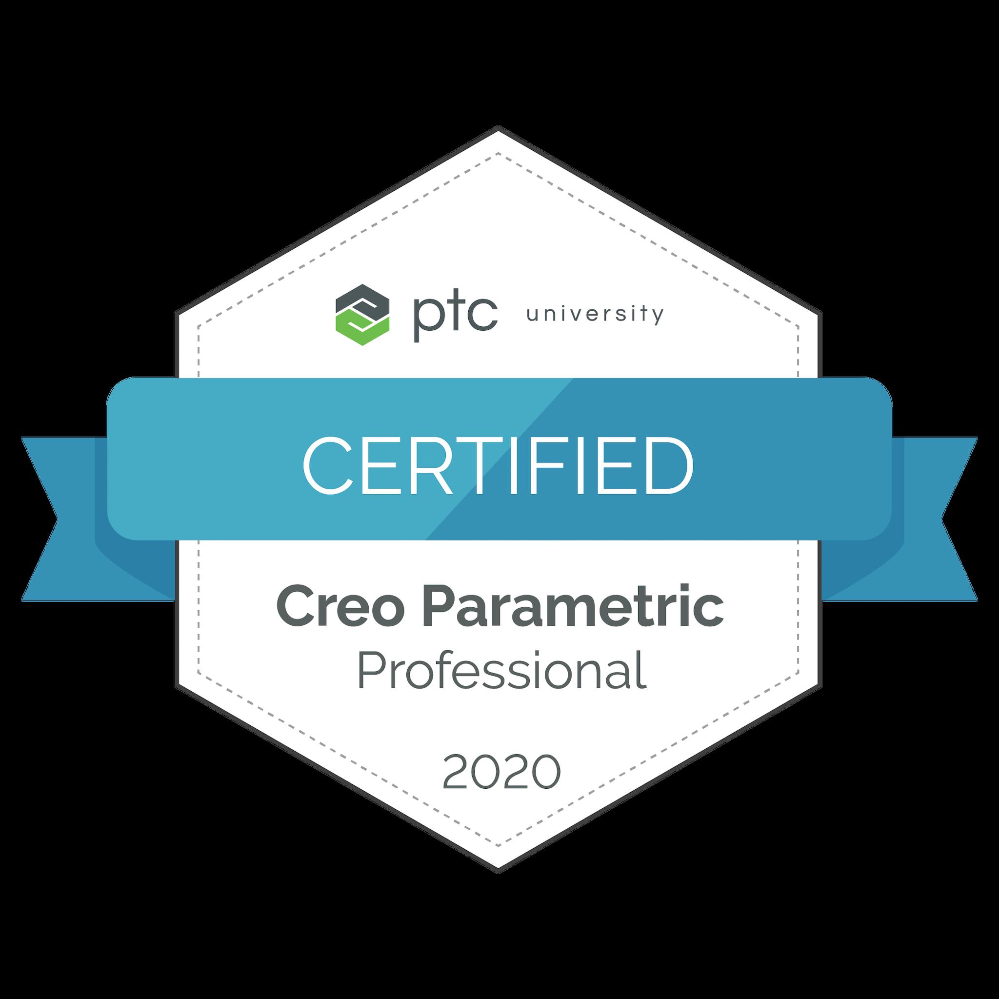 Creo Parametric Professional Certification 2020
