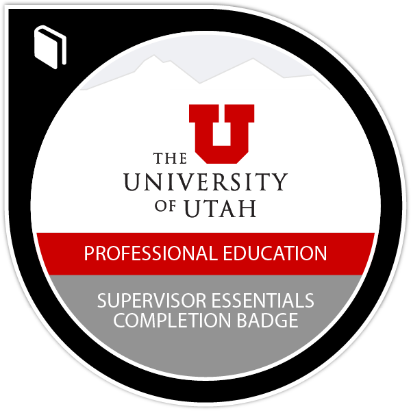 Supervisor Essentials Completion Badge
