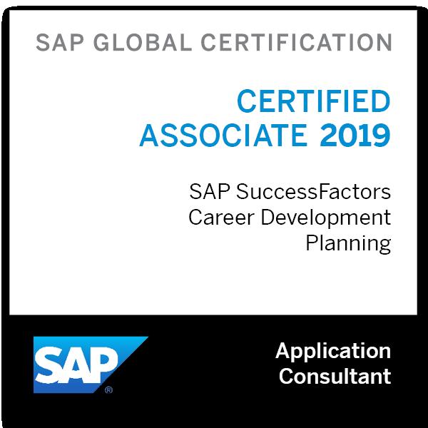 SAP Certified Application Associate - SAP SuccessFactors Career Development Planning 2019
