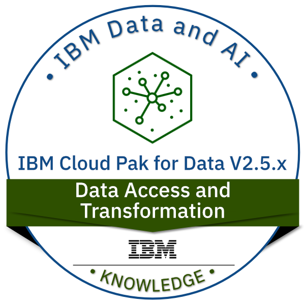 IBM Cloud Pak for Data V2.5.x Data Access and Transformation