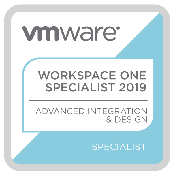 VMware Workspace ONE Advanced Integration and Design Specialist 2019