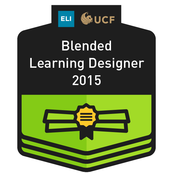 UCF/EDUCAUSE Certified Blended Learning Designer