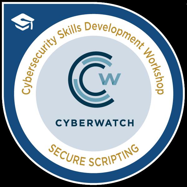 CyberWatch Secure Scripting Workshop Certificate