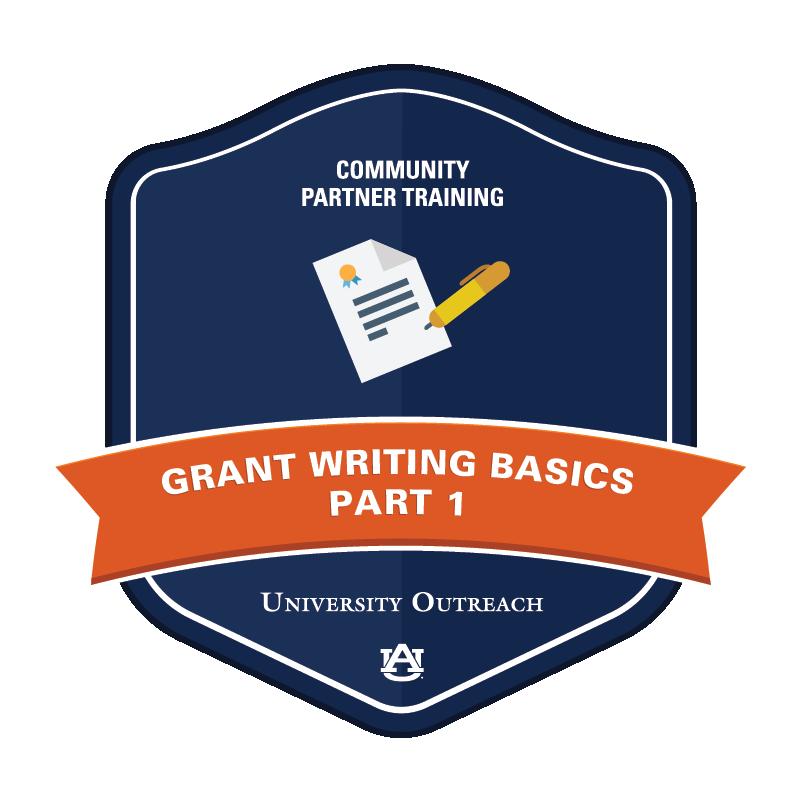 Community Partner Training Badge 5: Grant Writing Basics, Part 1